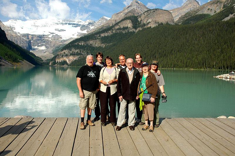 at Lake Louise with the family