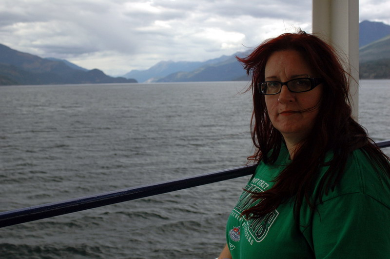 Marlies on the ferry