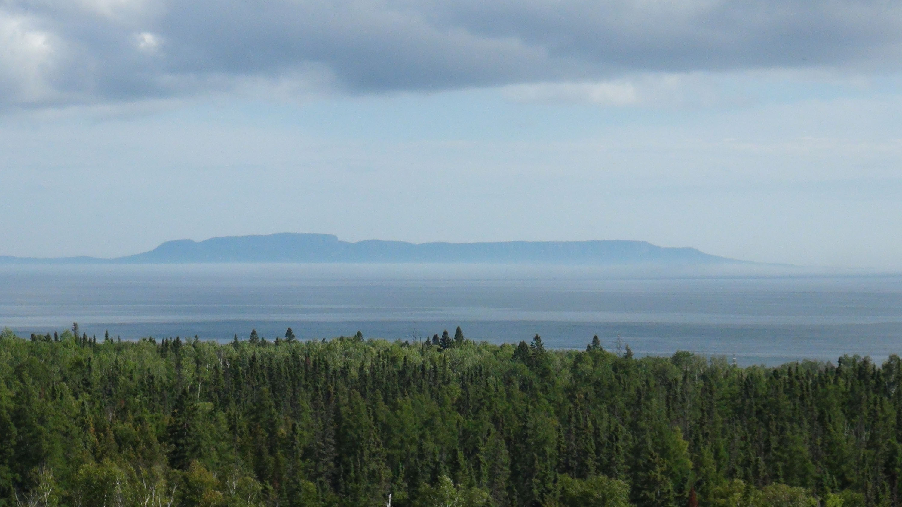 Lake Superior, Thunder Bay, view on Sleeping Giant