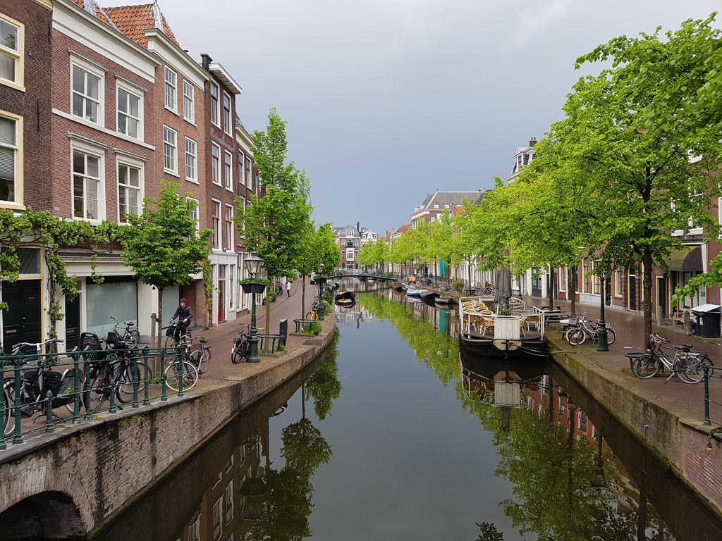 One of the canals in Leiden in 2017