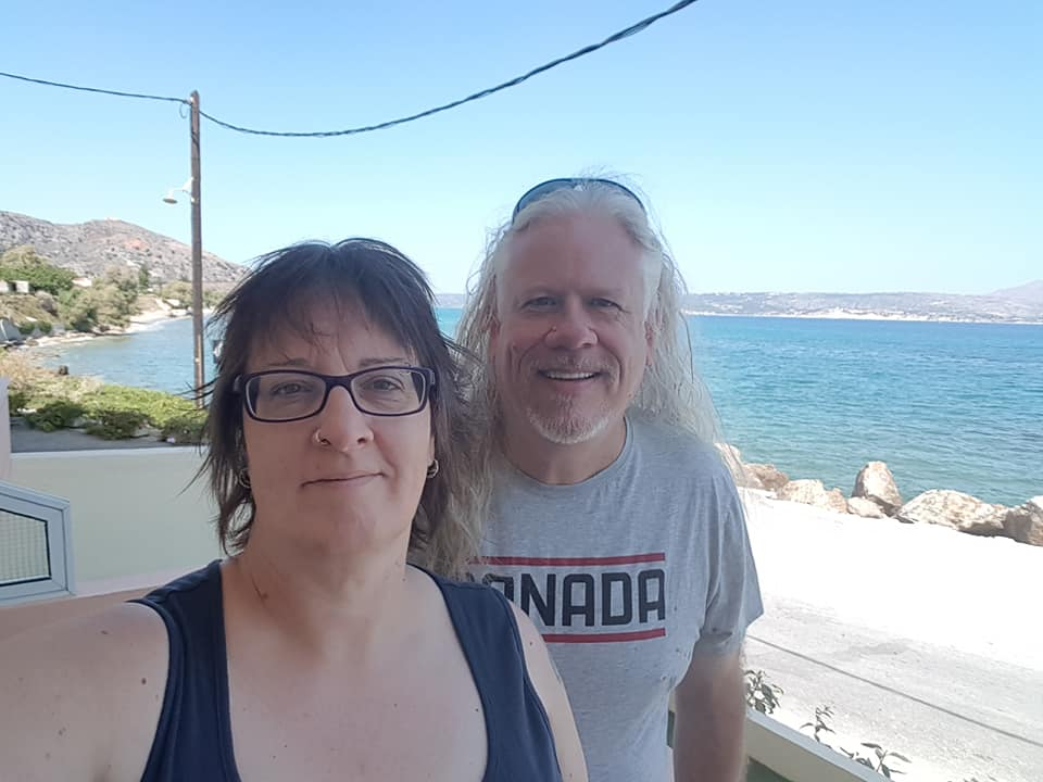 Nico and Marlies on Crete in 2018