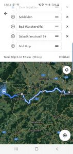 The route from Monschau to Ahrweiler